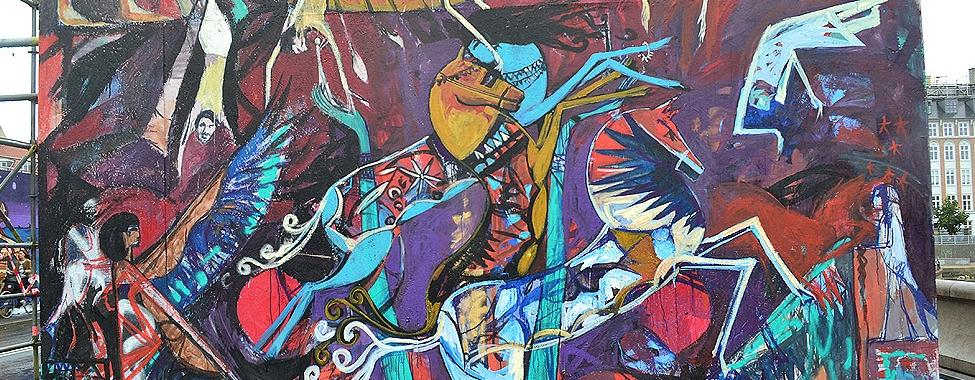 Alaa Awad mural paint