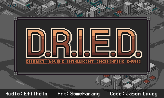 DRIED title screen