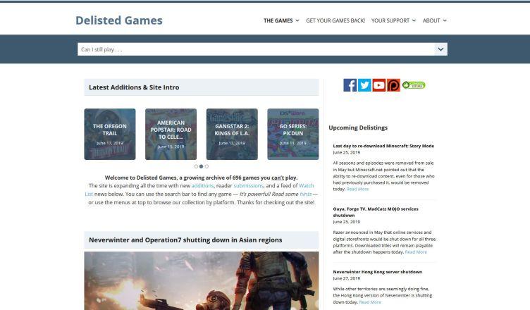 Deslited Games Front Page
