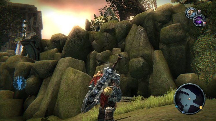 Screenshot of Darksiders' level barriers and how they don't look out of place.