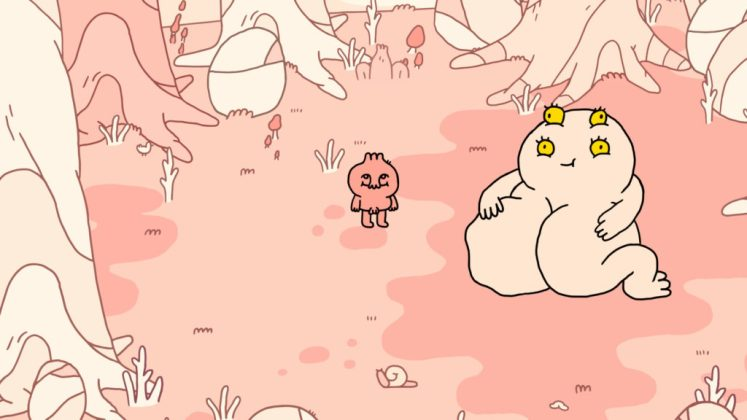 The Good Time Garden Screenshot - Slappable Creature Encounter