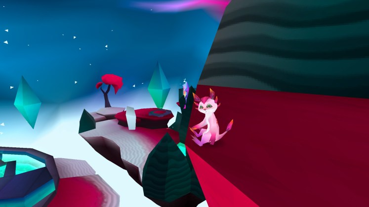 Screenshot of Zera resting at the top of Cosmic Core