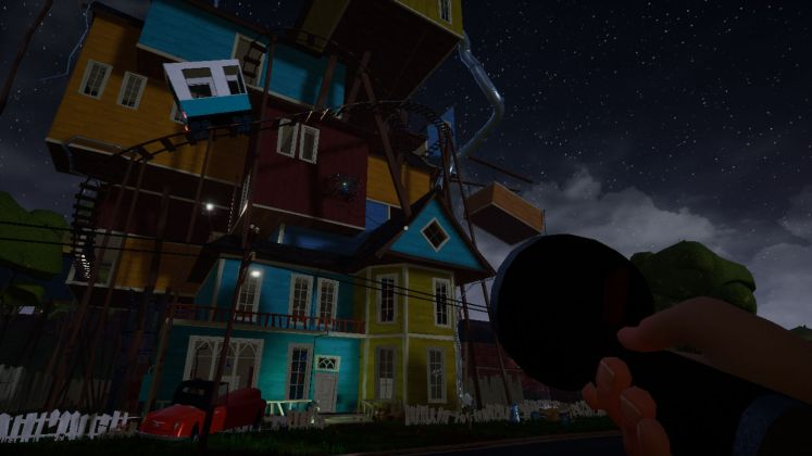 Screenshot of the Neighbor's house in Act 3