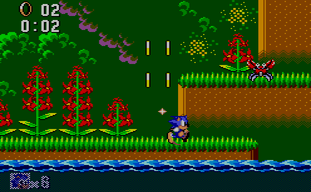 Sonic for the Master System - Jungle Zone Act 1