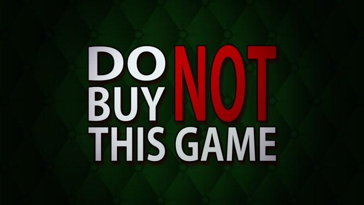 Do Not Buy This Game - Key Art