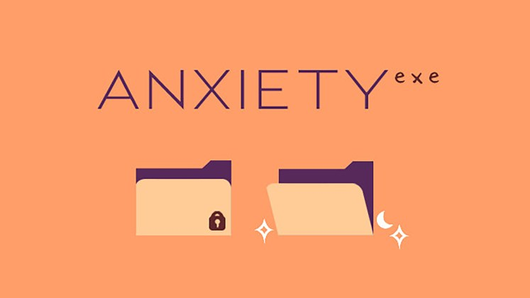 Self Care Games - Anxiety.exe Key Art