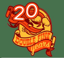 Double Fine Logo - Transparent