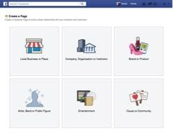 Facebook Fanpage Artist, Band or Public Figure