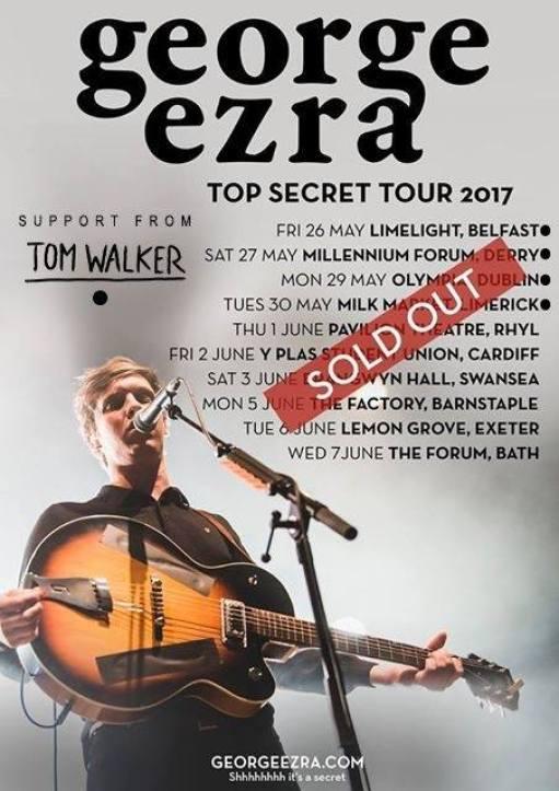 Tom Walker to support George Ezra