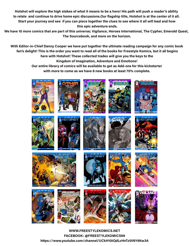 indie comic news, Freestyle Komics Launches Hotshot Collection on Kickstarter, The Indie Comix Dispatch