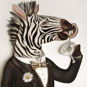 crankbunny zebra paper puppet pop-up cards noir dark