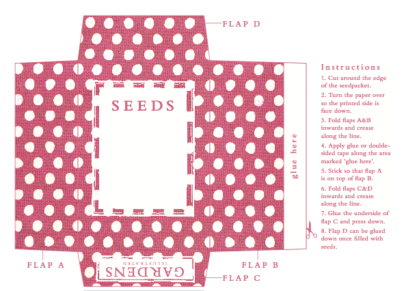 I Think Seeds Are A Nice Gift And Love These Simple Printable Seed Packets From BBC Magazine