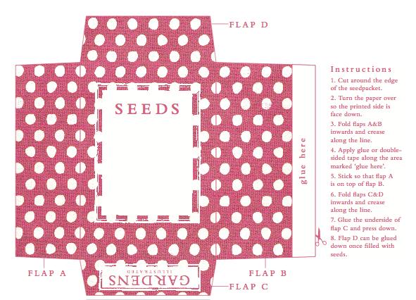 Printable Seed Packet Pdf Indie Crafts