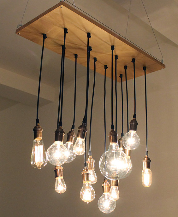Chandeliers for your closet indie crafts Industrial style chandeliers