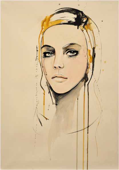golden fashion painting copy