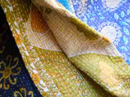 Kantha Blanket Details