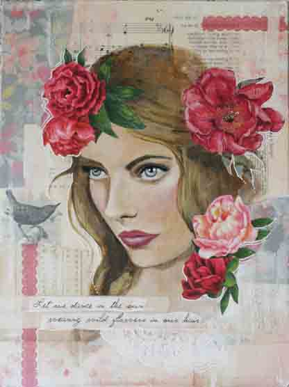 Grace and Ivy Mixed Media