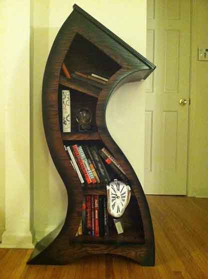 Wood Curve Bookshelf
