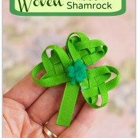 Ribbon Shamrock Embellishment