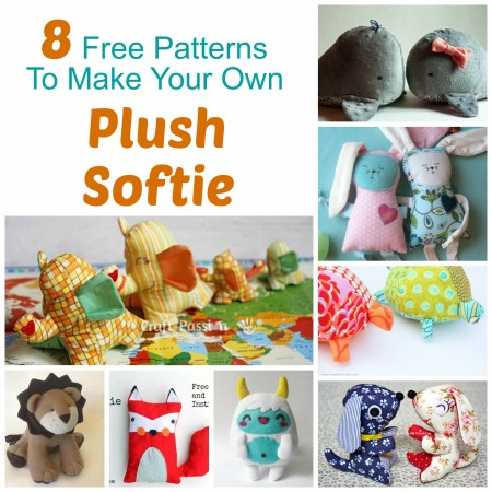 some craft ideas 8 free patterns to make a plush softie crafts 2971