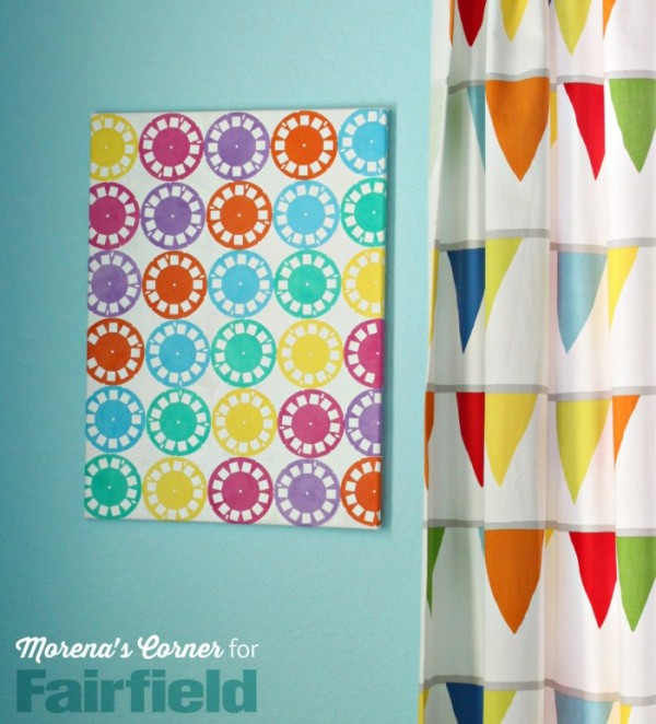Diy colorful wall art indie crafts for Diy colorful wall art
