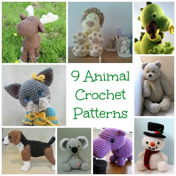 9 Animal Crochet Patterns