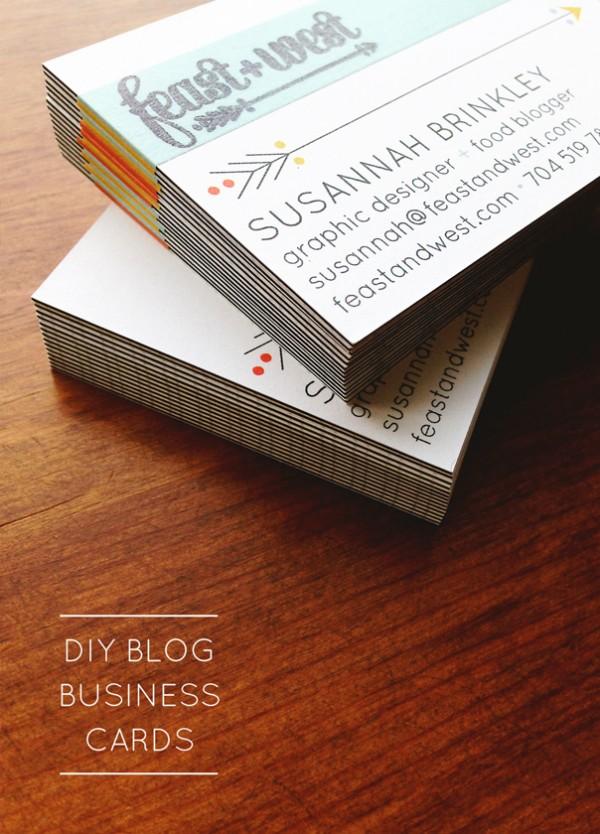 DIY Blog Business Cards