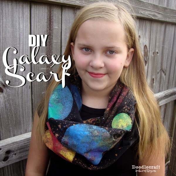 galaxy scarves scarf easy diy bleach universe planet painting tie dye bleaching glitter nebula glow in the dark puff paint (36)
