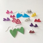 DIY Heart Earrings