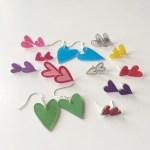 DIY Heart Earrings
