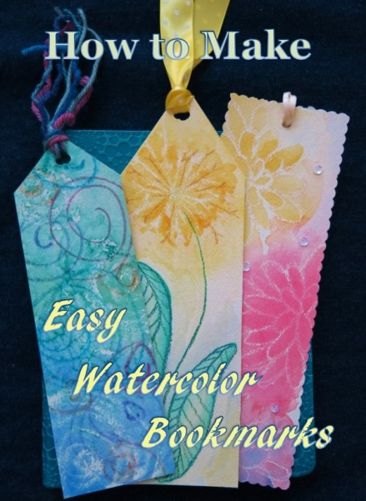 some craft ideas diy colorful bookmarks using easy watercolor techniques 2971