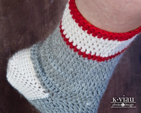 Workman's crochet sock by ACCROchet