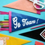DIY Duck Tape Pennant Pencil Pouch for Back to School