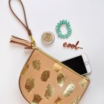 DIY Gold Foil Brushstroke Clutch