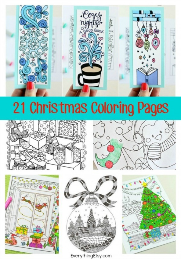 21 Christmas Printable Coloring Pages – Indie Crafts