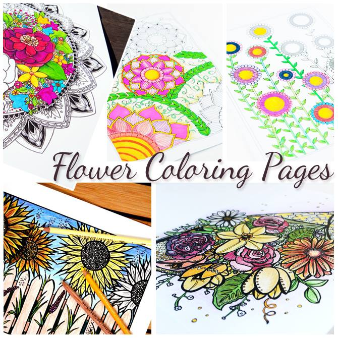 i have shared some awesome free coloring pages designed by menucha from moms and crafters here in the past and now shes designed more - Flower Coloring Pages For Adults