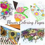 5 Free Flower Coloring Pages for Adults