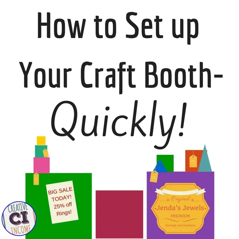 Set up your craft show booth quickly indie crafts for Best sellers at craft fairs 2016