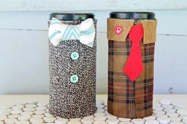 Make tweed suit recycled tins for father s day indie crafts for Can you recycle cookie tins