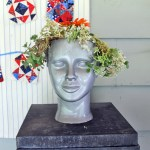 DIY Recycled Succulent Head Planter