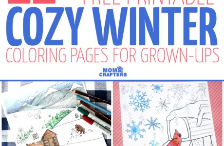Free Printable Winter Adult Coloring Pages