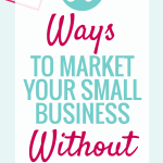 5 ways to market your Handmade business without saying a word