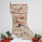 Etsy Feature - U.S. Marine Christmas Stocking