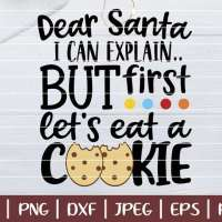 Free SVG  - Santa Let's Eat A Cookie