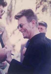 David Bowie by Kelley Curtis outside Chili Pepper 10-7-97