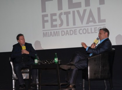 Gavin Hood in conversation with Festival director Jaie Laplante photo by Carlos Llana