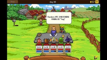 knights of pen & paper screenshot - NPC in default village