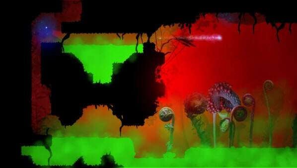 Knytt Underground - game screenshot - flashes of brilliance