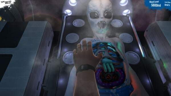 Surgeon Simulator 2013 - alien autopsy screenshot