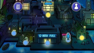 Card City Nights screenshot - nightime in the city